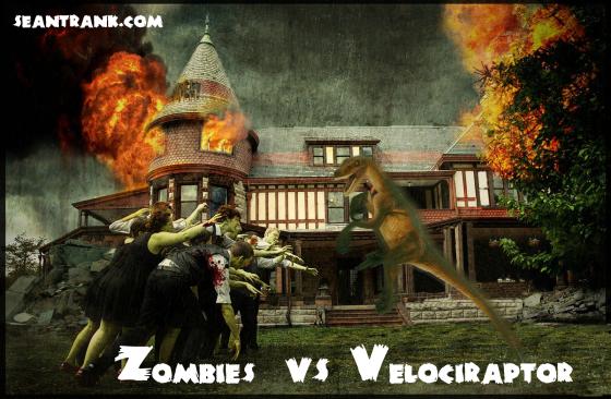 zombies vs raptor