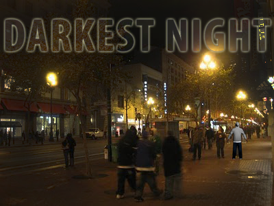 market dark night
